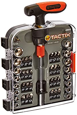 Tactix 900237 Screwdriver Handle Set, Black/Orange, 43-Piece