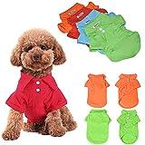 KINGMAS 4pcs Dog Shirts Pet Puppy Polo T-Shirt Clo...