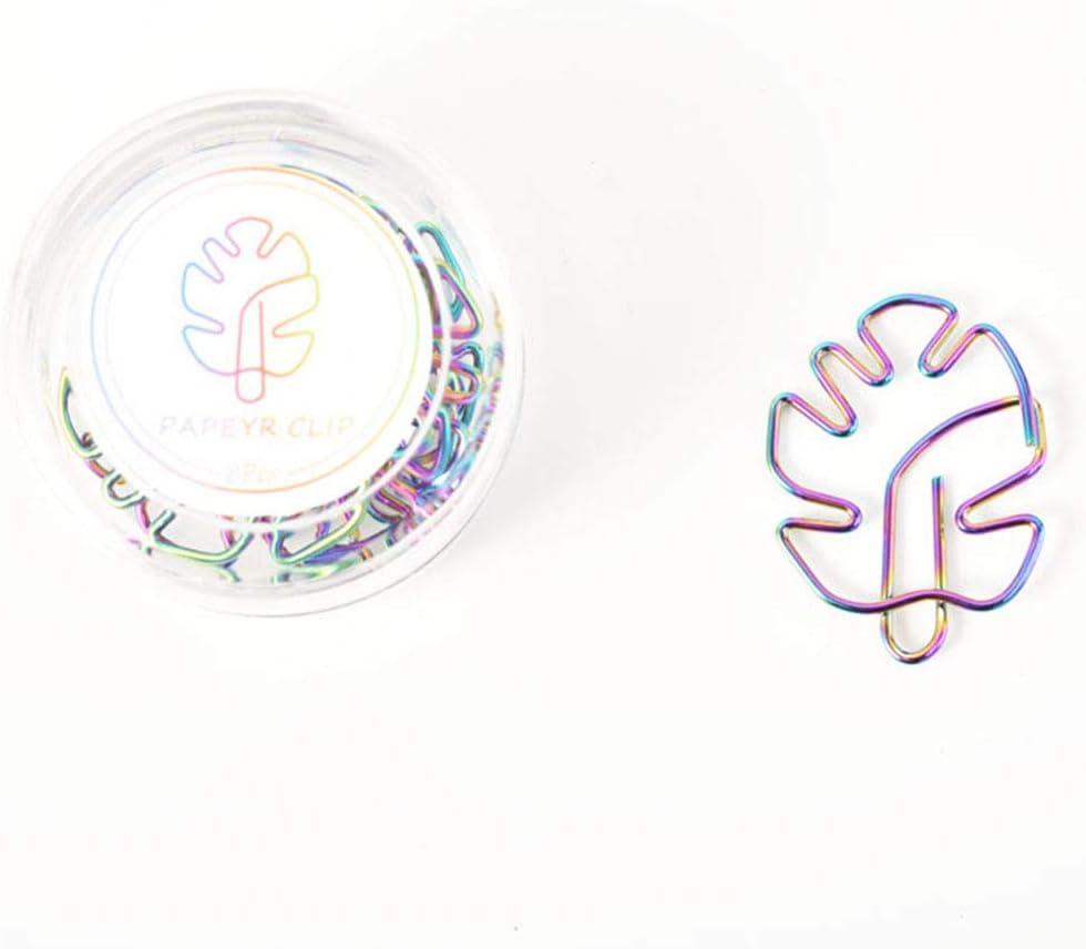 Toyvian 8pcs Clips de papel coloridos Abrazaderas lindas Paperclips Marcadores para el arte manualidades Scrapbook Office School
