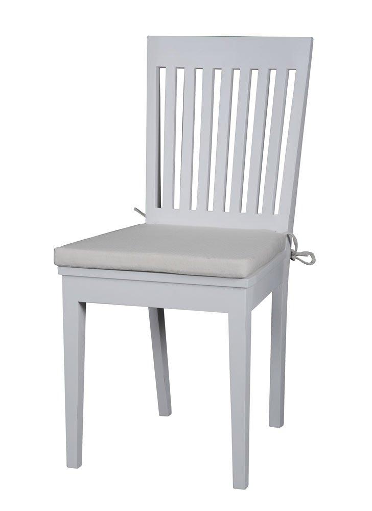 Albion, weiß lackiert, Mahagoni Möbel slatback Esszimmerstuhl, 1 Paar