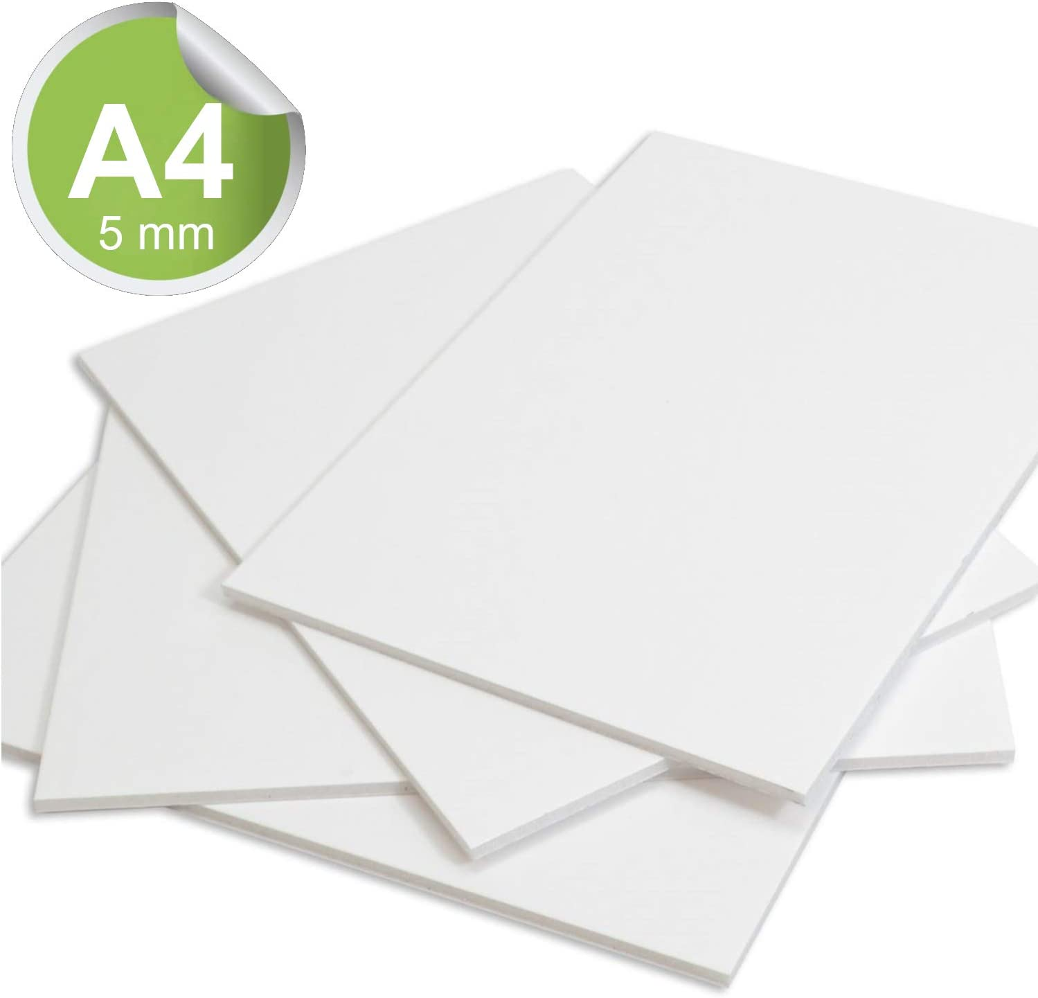 Pack of 5 A4 Foamex Board 5mm Modelling PVC Foam Sign Display Board 210 x 297 mm Photo Mount Sheet