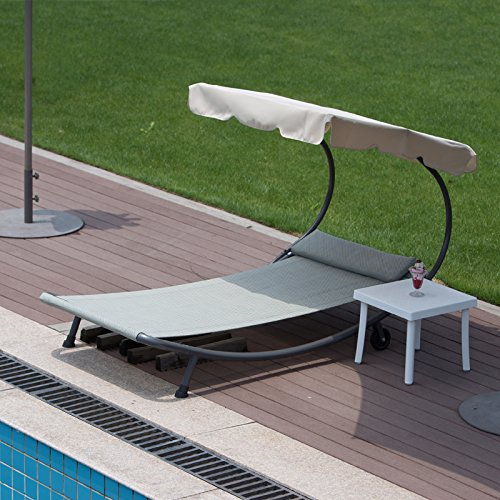 Abba patio outdoor portable chaise lounge chair hammock for Big and tall chaise lounge