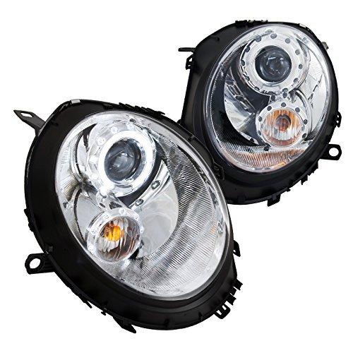 Cooper Mini Headlights Projector (Spec-D Tuning 2LHP-MINI06-TM Mini Cooper S / Base Chrome Halo Projector Headlights)