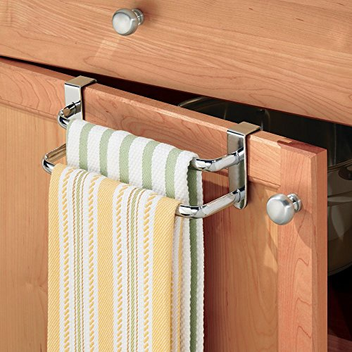 InterDesign Axis Over-the-Cabinet Kitchen Dish Towel Bar