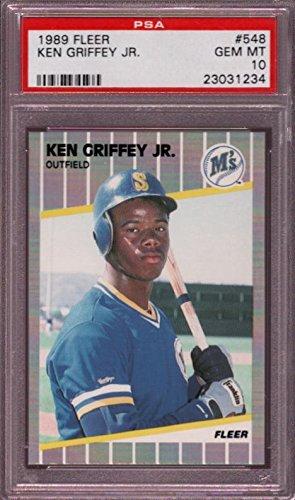 - 1989 FLEER #548 KEN GRIFFEY JR. RC PSA 10 B1750163-234