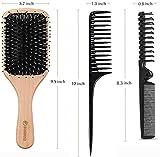 Hair Brush, Sosoon Boar Bristle Paddle Hairbrush