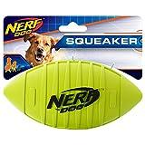 Nerf Juguete de Goma para Perro Dog Squeak, Sencillo, Verde, Large
