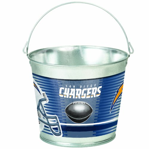NFL San Diego Chargers 5-Quart Galvanized Pail