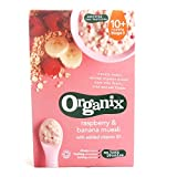 Organix - Stage 3 From 10 Months - Organic Infant Cereals - Raspberry & Banana Muesli - 200g (Case of 4)