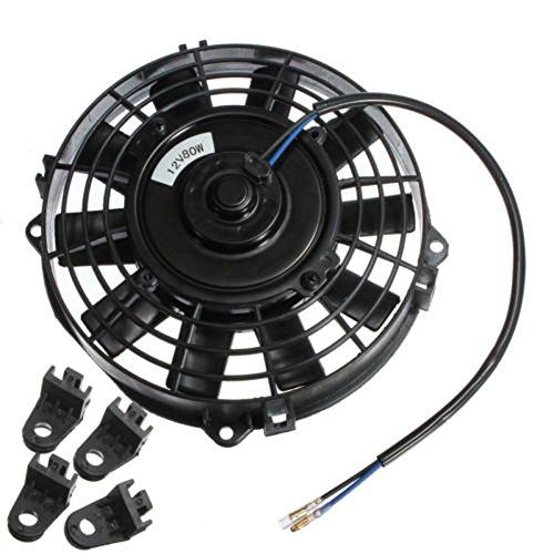 Fitting Kit Electric Radiator Cooling Fan 7 inch Electric Radiator//Intercooler 12v Slim Cooling Fan TOOGOO R