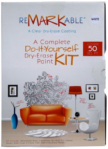 Square Paint (ReMARKable White Whiteboard Paint 50 Square Foot Kit)