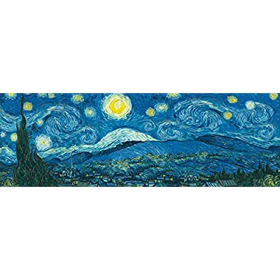 EuroGraphics Starry Night Panorama (Expanded from Original) by Vincent Van Gogh 1000-Piece Puzzle: Toys & Games