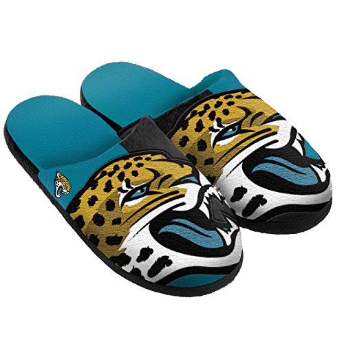Jacksonville Jaguars Split Color Slide Slipper Large