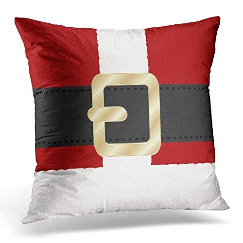 GHEDPO Santa Claus Suit Christmas Decorative Pillow Case Holiday Home Decor Square 18 x 18 Inch Cushion 45cm