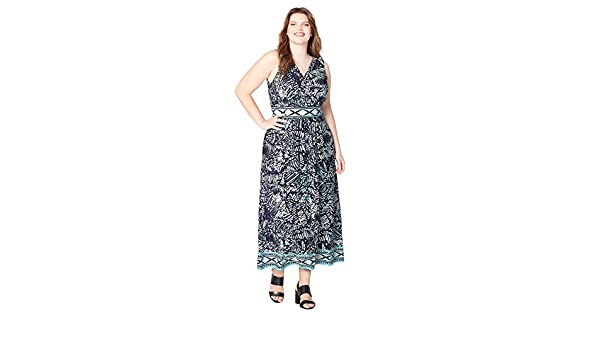 117e5f72a63 Avenue Women s Abstract Border Maxi Dress