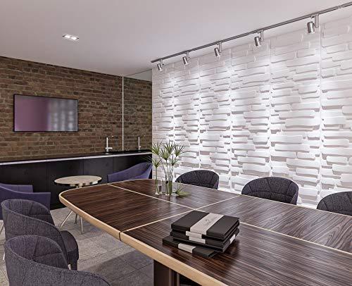 Fiber Plant (3D Decorative Wall Panels/Paintable Plant Fiber Design/Textured Eco Friendly Modern Wall Decor for TV Walls/Bedroom/Living Room Sofa)