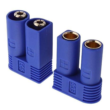 auspilybiber 6 Pares EC5 Conector Banana Macho Hembra Conector De Forma De Bala Para Dispositivo De Bater/ía RC ESC LIPO Bater/ía De Motor El/éctrico efficient manner