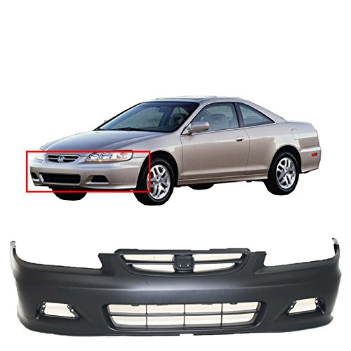 MBI AUTO - Primered, Front Bumper Cover for 2001 2002 Honda Accord Coupe, HO1000195 ()