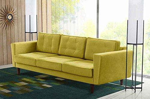 MY-Furniture LUCIENE 3-Sitzer Sofa in Genoa Oliv