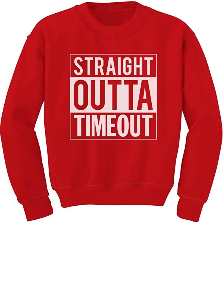 TeeStars - Straight Outta Timeout Funny Toddler/Kids Sweatshirts 4T Red GhPhllMgf5Phf59ho
