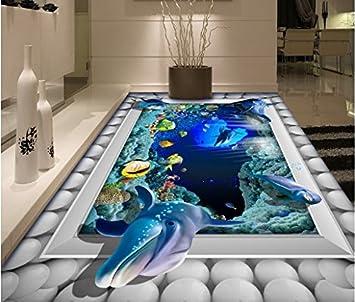 Wongxl Mundo Submarino 3D Personalizado Para El Cuarto De Baño Con ...