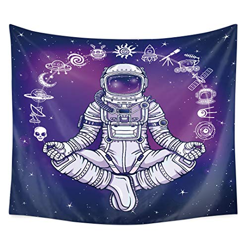 QCWN Tapestry Mediating Concentration Decorations Blue product image