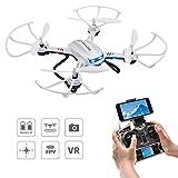 Potensic Drone with Camera, F181WH Drone RTF Altitude Hold RC Quadcopter UFO with 2MP WiFi Camera (White)