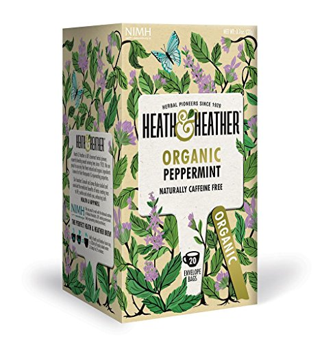 Organic Peppermint Tea  20 Tea Bags/Pack  Caffeine-Free  100% USDA Certified Organic  Naturally Decaf with No Chemical Additives/Preservatives/Sugar  Vegan, Vegetarian, Allergen-Free, Kosher Chai