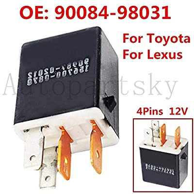 4-pins 12V Car RELAY For TOYOTA LEXUS Auto Replacement Accessories 90987-02012 156700-0870 90084-98031 9098702012 1567000870: Home Improvement