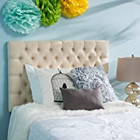 Bobby Cream Fabric Kids Twin Headboard