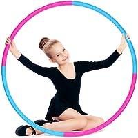 Hula Fitness Hoop voor kinderen E-More Hoola-Hoops Kids Gewicht en Maat Verstelbare Afneembare Sport Speelgoed, Geschikt…