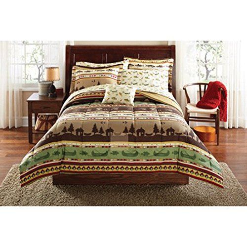 Mainstays Gone Fishing Bed in a Bag Coordinated Bedding Set (Queen)