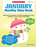 January Monthly Idea Book, Karen Sevaly, 0545379377