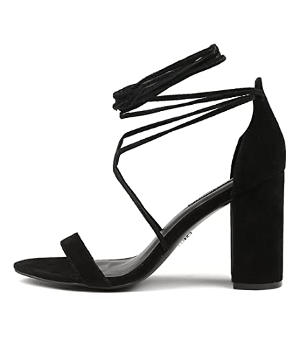 2aecb145569 WINDSOR SMITH Idina Black Womens Shoes High Heels Sandals: Amazon ...