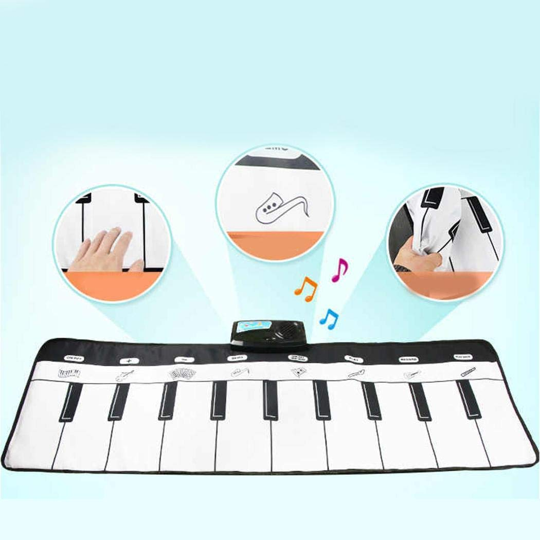 Breven Kids Piano Keyboard Mat, Electronic Music Playmat Carpet, Musical Crawling Blanket, Educational Toy Dance Mats by Breven (Image #5)