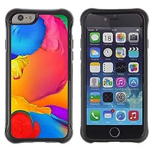 Suave TPU GEL Carcasa Funda Silicona Blando Estuche Caso de protección (para) Apple Iphone 6 PLUS 5.5 / CECELL Phone case / / Paint Colorful Blue Liquid Yellow Purple /