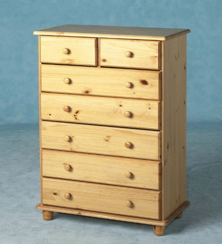 Sol 7 Drawer Chest of Drawers - Antique Pine - Large Chest - Classic Furniture by Premiere -
