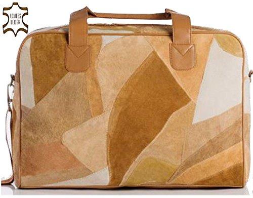 Edle Weekender Tasche aus echtem Leder | Kalbsleder Sporttasche | Reisetasche