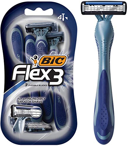 BIC Flex 3 Men's Triple Blade Disposable Razor, 4-Count ()