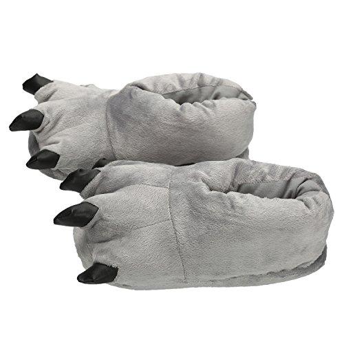 Cosplay Artigli Grigio Pantofole Holloween E Mescara Peluche Nverno Animali Scarpe Slipper Zampa Attrezzatura Calde OqwxzI1w