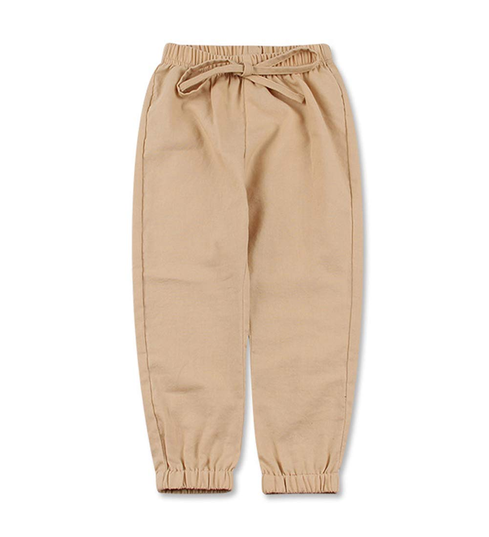Koupa Little Boys Pants Jogger Pants for Kids (Khaki,3-4 Years)