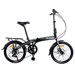 "Camp 20"" Alloy 7 Speed Folding Bike Disc Brake Super Sonic"
