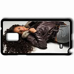 Personalized Samsung Note 4 Cell phone Case/Cover Skin Alicia Keys Musicians Famous For Being Popular recording artist Black