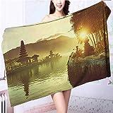 Miki Da Quick-Dry Bath Towel Pura Ulun Danu Temple Bali Indonesia Asian River R Ideal for everyday use L63 x W31.2 INCH