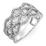 2.00 Carat (ctw) 14k White Gold Round Diamond Ladies Cocktail Right Hand Ring 2 CT