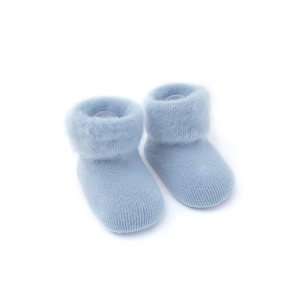 0-6 Months XS SuYoYo Baby Non-skid Warm Winter Thick Fur Socks Toddler Boys Girls Socks , Blue