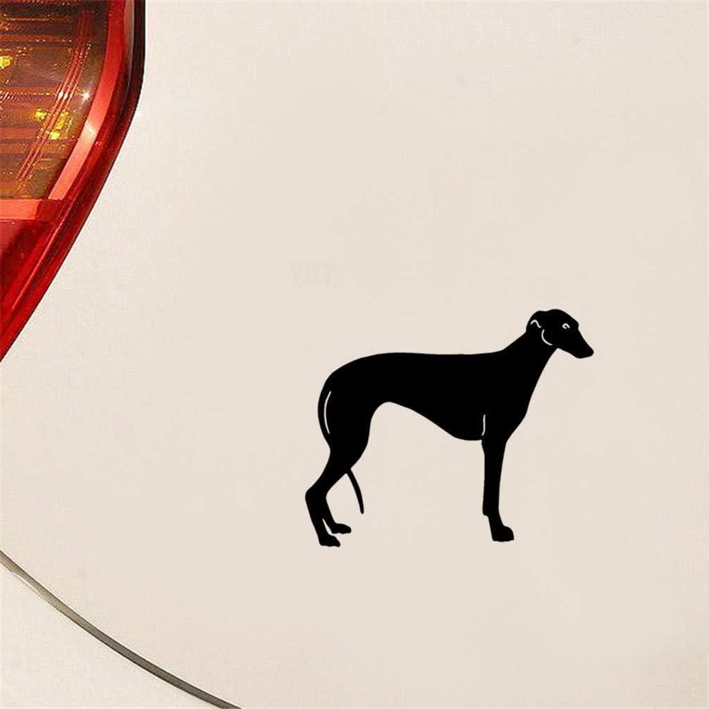 coche pegatina 15,5x12,7 cm galgo clásico perro mascota pegatinas de coche estilo de coche divertido animal calcomanías decorativas para coche portátil ventana pegatina