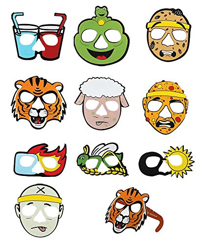 Zion Judaica Passover Ten Plagues of Egypt Cartoon Glasses 10 Full Face Characters ()