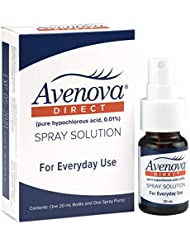 Avenova Direct for Eyelids and Eyelashes, Styes, Dry Eyes, Blepharitis, Meibomian Gland Dysfunction, and Red Eyelids, 0.01% Hypochlorous Acid Spray Solution, 20mL (0.68 oz)
