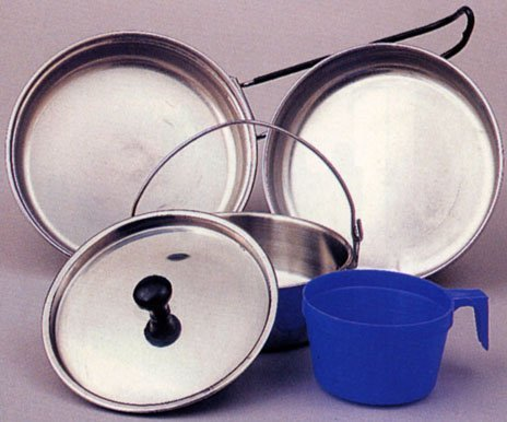 Rothco Stainless Steel Mess Kit - 5 Piece